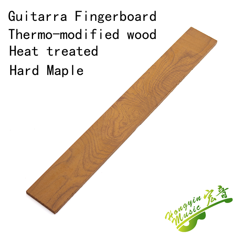Heat Treated Thermo-modified Wood WooCarbonization Hard Maple Material Guitarra Fingerboard For Electric Acoustic Guitar