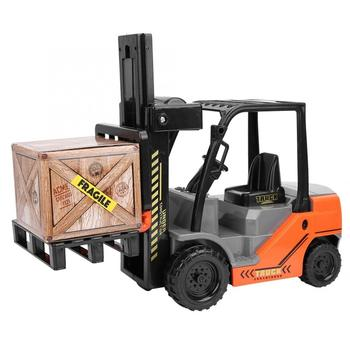 1:10 Scale Forklifts Toy Model Inertia Forklifts Gift Toy with Pallets Box for Children Engineering Car Forklifts Birthday Gift 1