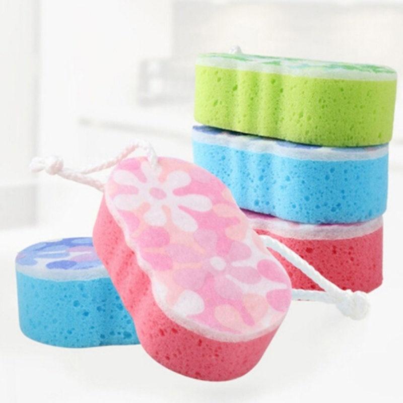Bath Sponge Massage Multi Shower Exfoliating Body Cleaning Scrubber Cleaning Multi-purpose Shower Sponge Scrubber Pad Brush