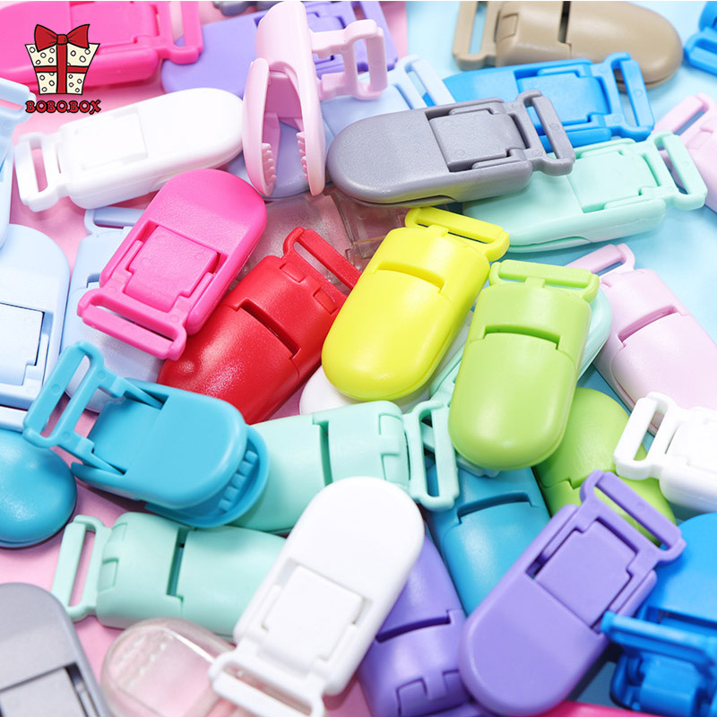 BOBO.BOX 10Ppcs Plastic Baby Pacifier Clips Jewelry Making Pacify Soother Holder For Baby Feeding Accessories Tools Multi Colors
