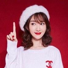 Painter-Hat Japanese Wool-Hat Beret Women British Rabbit Net Versatile Korean-Edition