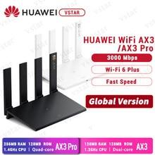 Versão global huawei wifi ax3 pro quad core wifi 6 + 3000mbps roteador sem fio huawe wifi ax3 duplo núcleo amplificador nfc fácil configuração