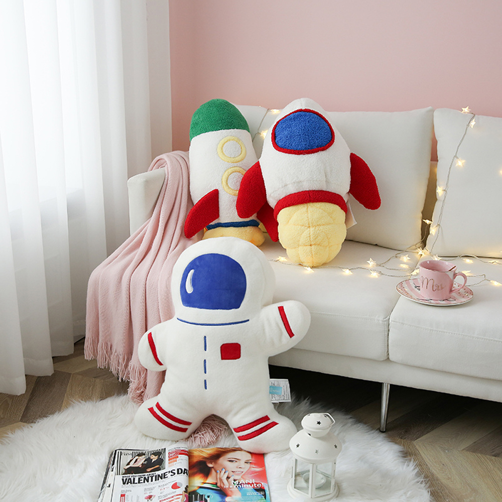 Plush Space Discovery Toys Stuffed Spaceship Rocket Shuttle Astronaut Doll Birthday Gifts for Boys Educational Toys for Kids