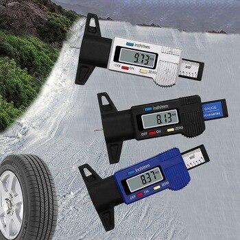 Testeur de profondeur de bande de roulement de pneu de voiture numérique 0 25mm jauge de profondeur de bande de roulement de pneu Cônes de sécurité Sécurité et Protection -