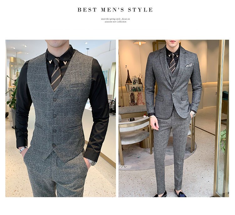terno de três peças masculino formal negócios ternos casuais