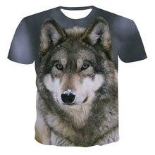 2020 Summer NewFunny 3d T Shirt Summer Hipster Short Sleeve Tee Tops A Wolf in the snow T-Shirts Short sleeve tops