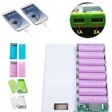 5V Dual USB 18650 Power Bank Battery Box 1A 2A Outputs Mobile Phone Charger DIY Shell Case Charging Welding-free