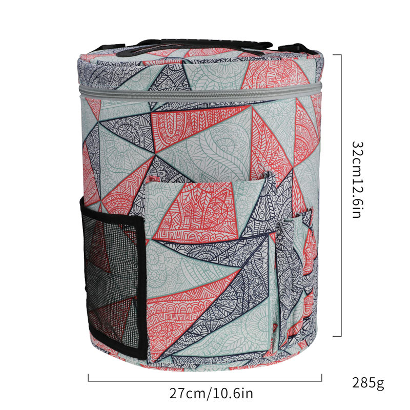 Image 3 - Geometric Style Storage Bag With Crochet Hook Set For DIY Weave Clothes Empty Yarn Bag For Crochet Hooks And Knitting Needles-in DIY Knitting from Home & Garden