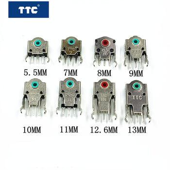 Darmowa wysyłka 2 sztuk oryginalny bardzo dokładny enkoder myszy TTC 5 5mm 7mm 8mm 9mm 10mm 11mm 12 6mm 13mm czerwony zielony żółty dekoder tanie i dobre opinie NoEnName_Null CN (pochodzenie) TTC Mouse Encoder