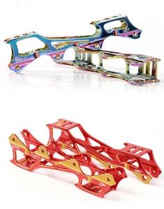Image 5 - Roller Skate  Banana Frame 7075 Aluminium Alloy Inline Blade Skate Shoes Racks Holders 219mm 231mm 243mm With 8pcs Axes