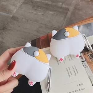 Image 5 - For Apple AirPods 3D Cute Cartoon Dog Puppy Funny Shiba Inu Ass Case for Airpods 2 Sexy Cat Pig Butt Earphone Headset Cover Bag