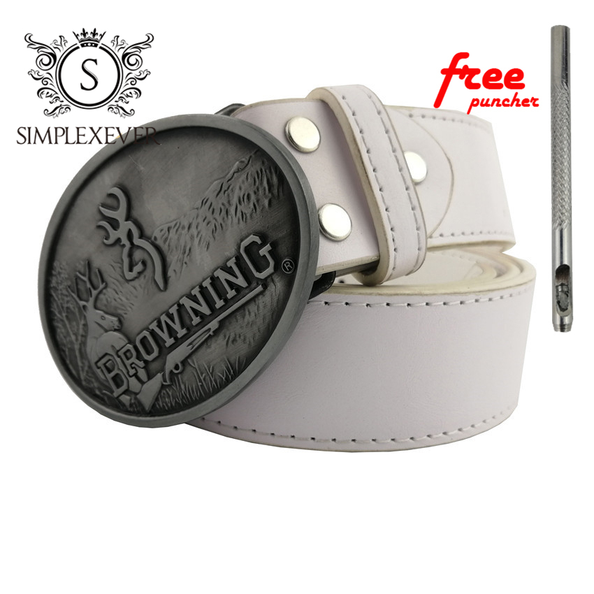 Silver BROWNING Mens Belt Buckle Head With Belt Cowboy Belt Buckle As Birthday Gifts