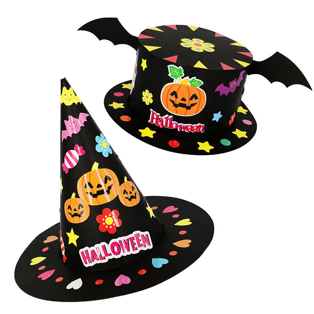 Halloween DIY Hat Children Handmade Educational Toy Hat Cartoon Gift Festival Party Decoration Toys 48/52 CM Halloween Diy Hat
