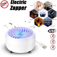 USB Electronic Bug Zapper Insect Mosquito Killer Lamp Built in Fan Flies Catcher Trap Lamp Mosquito Zapper Killer Lamp Indoor Traps     -