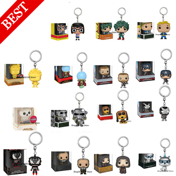 NEW Keychain Toys ROCKET THANOS FAWKES NARUTO VENOMIZED ARAGORN POP withbox Figure Model toys for chlidren image