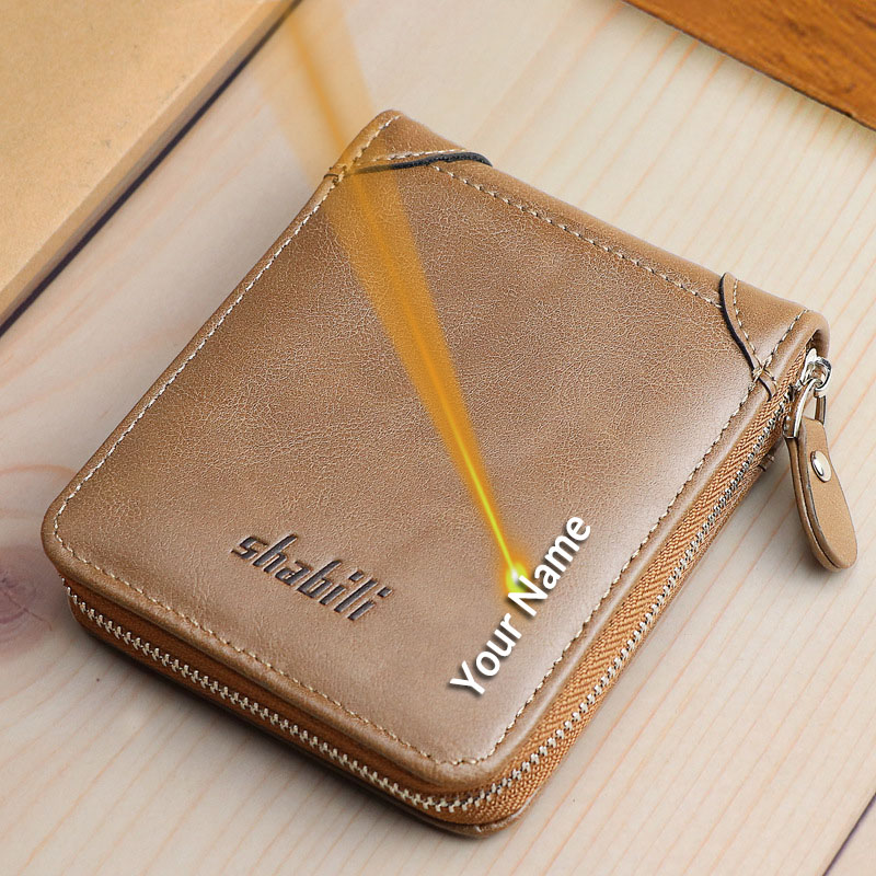 Brand Men PU Leather Small Short Wallet with Coin Pocket Vintage Male Business High Quality Money Purse Card Holder Gift for Men