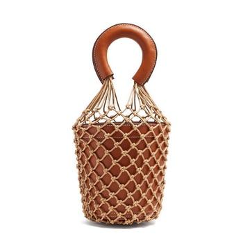 Genuine Leather Luxury Handbags Women Bags Designer Cowhide Basket Bucket String Real Leather Tote Bag Purse bolsa feminina