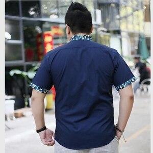 Image 3 - Mannen Plus Size Kleding Korte Mouwen Mannelijke Grote Maat Casual Shirt Vet Zomer Korte Mouwen Basic 8XL 7XL 6XL