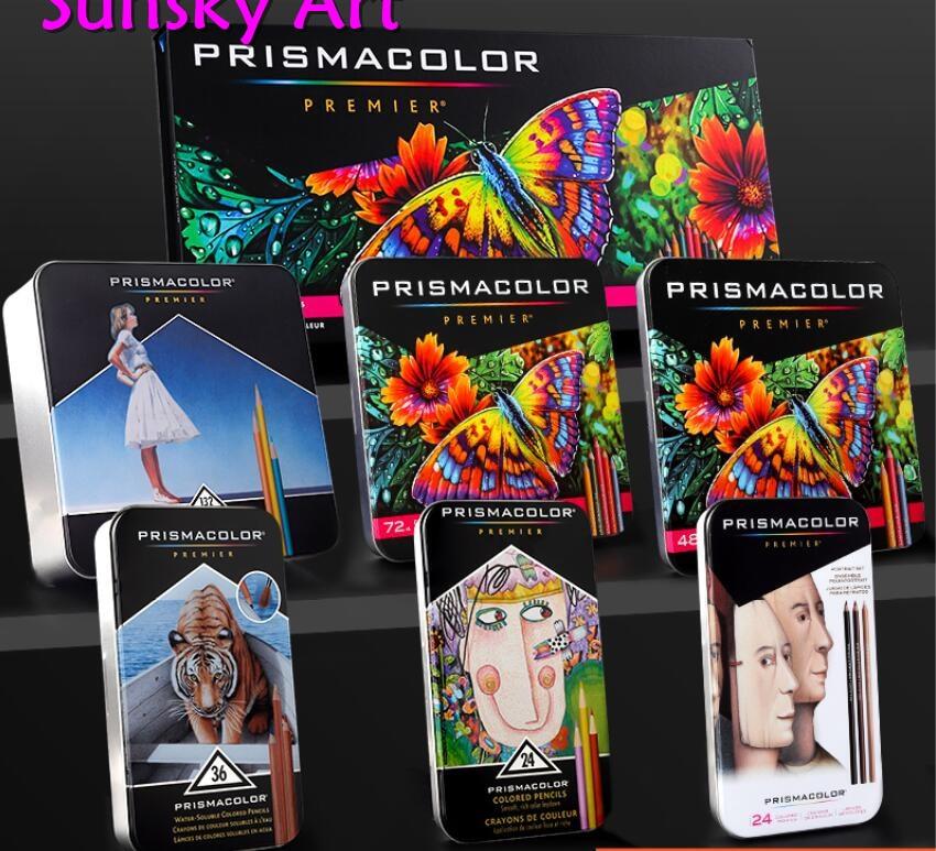Original 12/24/48/72/132/150 couleur usa lapis de cor Crayon de couleur artiste sanford prismacolor 4.0mm Crayon couleur Cor do Chumbo