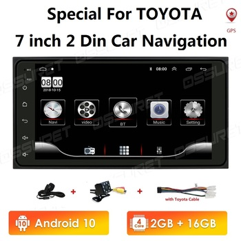 2+16 2Din android Car Radio Multimedia Player For Toyota Corolla old RAV4 Prado Vios Hilux Terios Vitz Avanza Land 4Runner 2 din image
