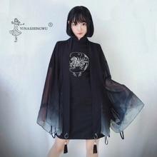 Kimonos Print Cardigan Kimono Cosplay Long Sleeve Sun Protection Clothing Women Costume Asia Japanese Traditional Yukata Women