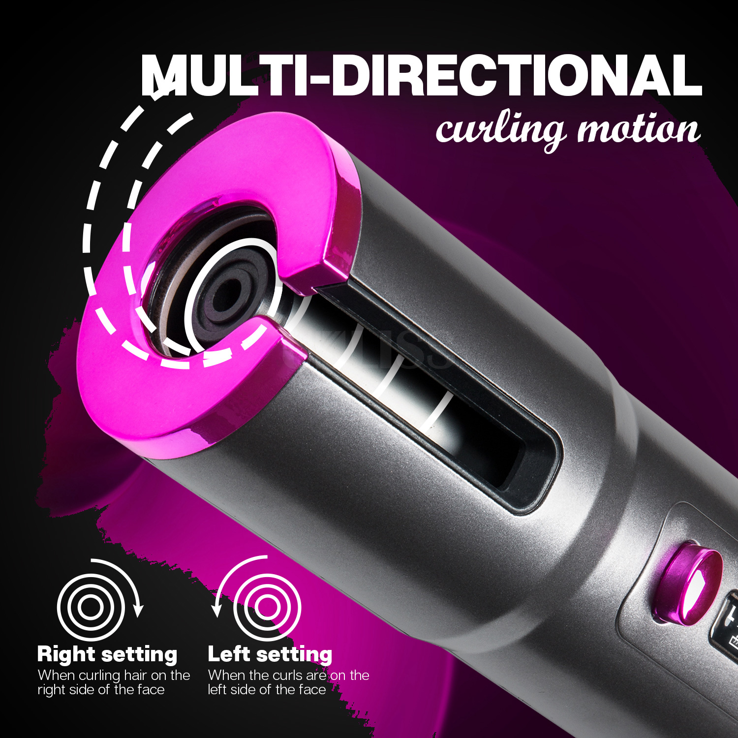 Multi directional Hair Curling Wand