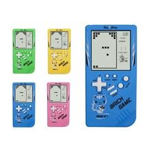 Çocukluk Retro klasik Tetris el oyun oyuncu 2.7 LCD elektronik GameToys cep oyun konsolu bilmece eğitici oyuncak