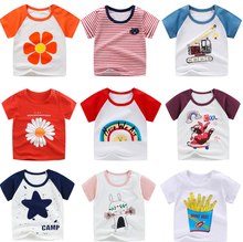 Baby T-shirt for Boys girls Clothes Summer Animal Print Short Sleeve Tee Shirts Kids T-Shirts Children Casual Tops цена 2017