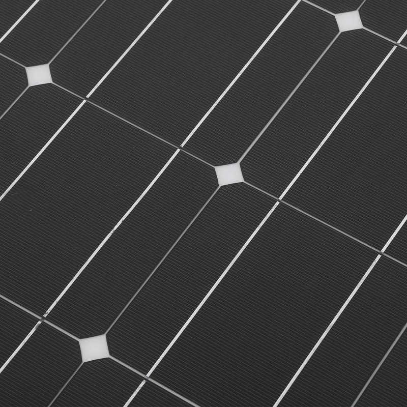 100w semi flexivel painel solar monocristalino portatil 04