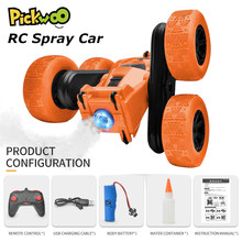 Pickwoo C7 Pro RC Stunt Car with Music LED Light 2.4Ghz 4CH Spray Drift Deformation Remote Control Vehicle 360 Degree Flip Toys