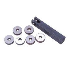 7x Single Wheel Straight Linear Knurling Tool Set 0 5mm 1.5m