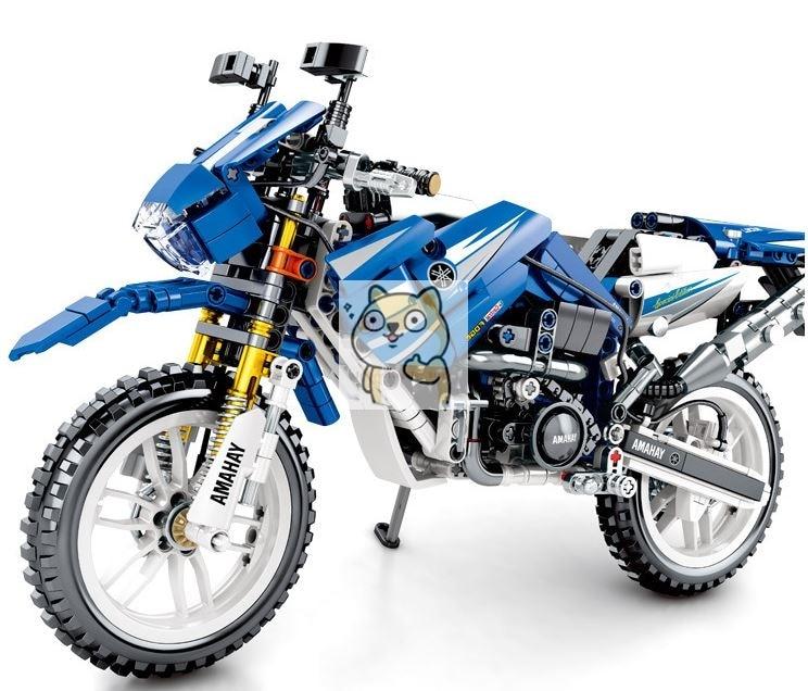 799pcs1: 8 Моделирование технологии мотоцикла строительные блоки 701702 детские развивающие Конструктор из строительных блоков игрушки