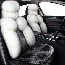Housses de siège pour véhicule en laine et fourrure chaude, universel, pour toyota corolla, camry avensis rav4 chr land cruiser prado, pour automne, hiver