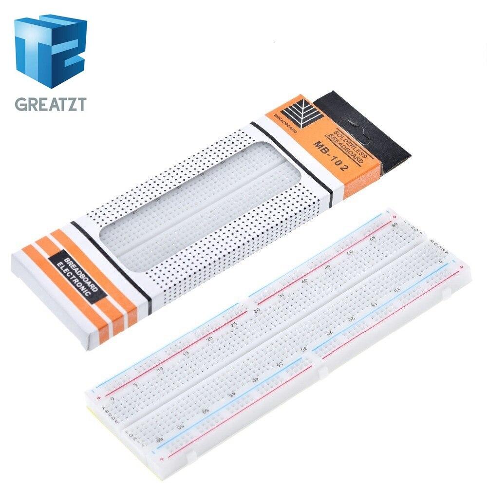 GREATZT  Breadboard 830 Point PCB Board MB 102 MB102 Test Develop DIY kit nodemcu raspberri pi 2 lcd High Frequency|bread board|breadboard 830breadboard solderless - AliExpress