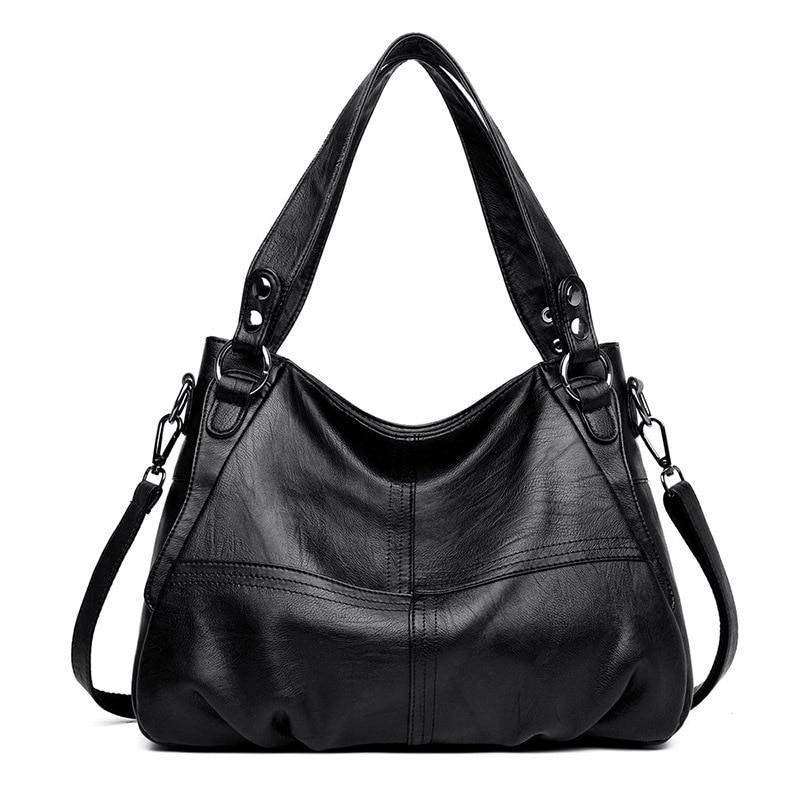 Women's Genuine Leather Handbag Large Leather Designer Big Tote Bags For Women 2019 Luxury Shoulder Bag Famous Brand Handbags