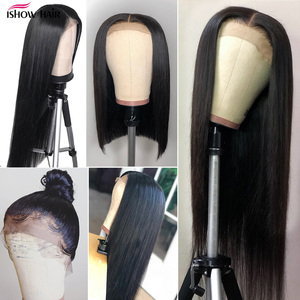 Image 4 - Ishow Lace Front Human Hair Wigs Pre Plucked Straight Lace Front Wig With Baby Hair Peruvian Part Lace Wig Human Hair Wigs