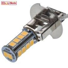 1/2 Pcs H3 Led Lamp Warm Wit PK22S 2835 18SMD Zaklamp Zoeklicht Vervangen Koplamp Lamp Voor Roor Vec198 Fakkel Verlichting 6V