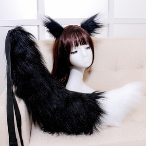 Image 5 - Adjustable Belt Fox Ears Tail Furry Animal Headband Cosplay Props Carnival Party Decor Fancy Dress Halloween Costume Accessories