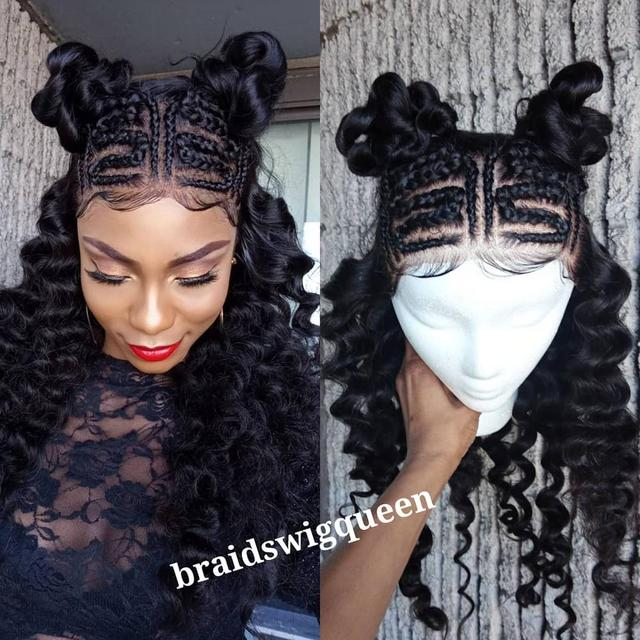 Ali Grace Human Hair Wigs Brazilian Loose Wave 360 Frontal Wigs 250% Density Pre-plucked Hairline With Baby Hair Lace Front Wigs 1