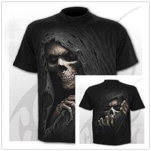 Verão novo crânio 3d camiseta masculina e feminina hip hop engraçado casual t camisa de manga curta o-pescoço topo moda harajuku tshirt