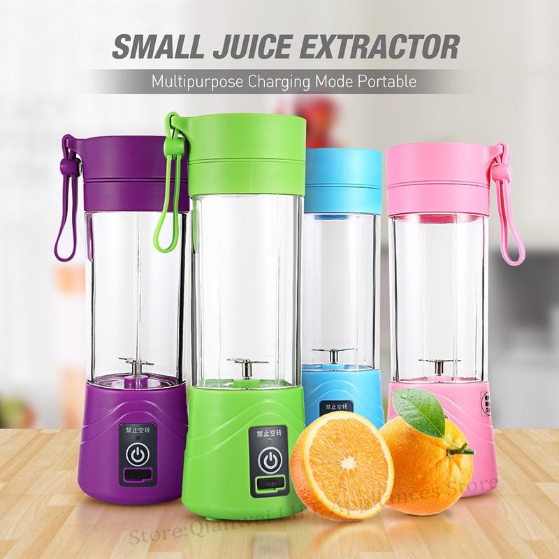 Multipurpose Portátil Juicer Blender Extractor Máquina de Carregamento Doméstico 380 ml de Ovos Whisk / Food pequeno Corte Mixer Juicer Copo liquidificador