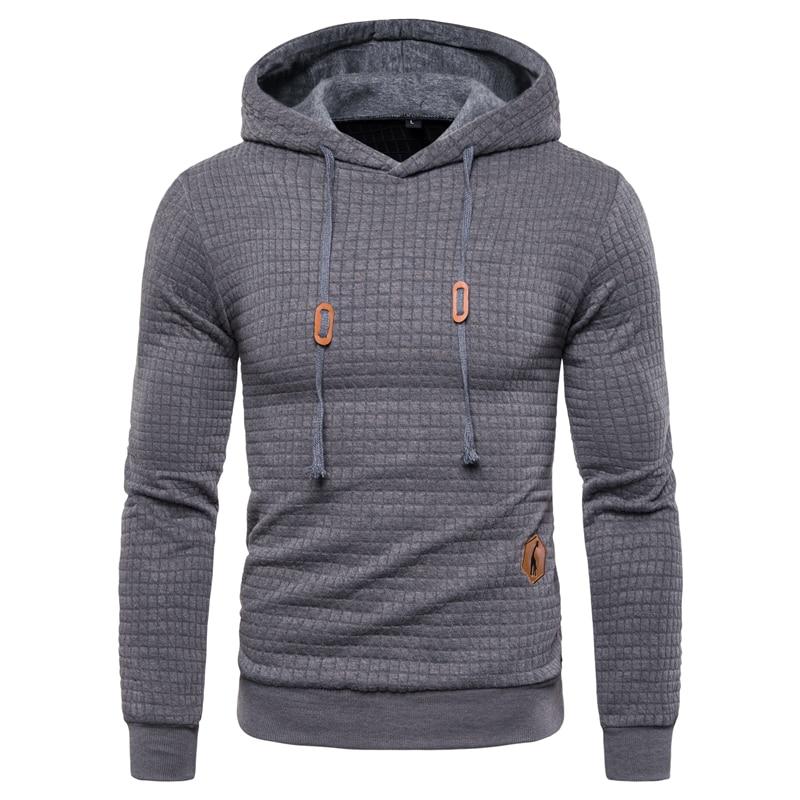 Dropshipping NEGIZBER New Spring Autumn Hoodies Men Casual Hooded Men's Sweatshirt Plaid Pullover Hoodie Men Clothing Streetwear