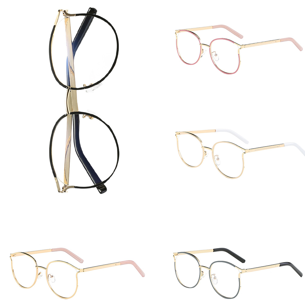 Square Plating Metal Frame Optical Skin Friendly Glasses Hollow Classic Men Women Eyeglasses