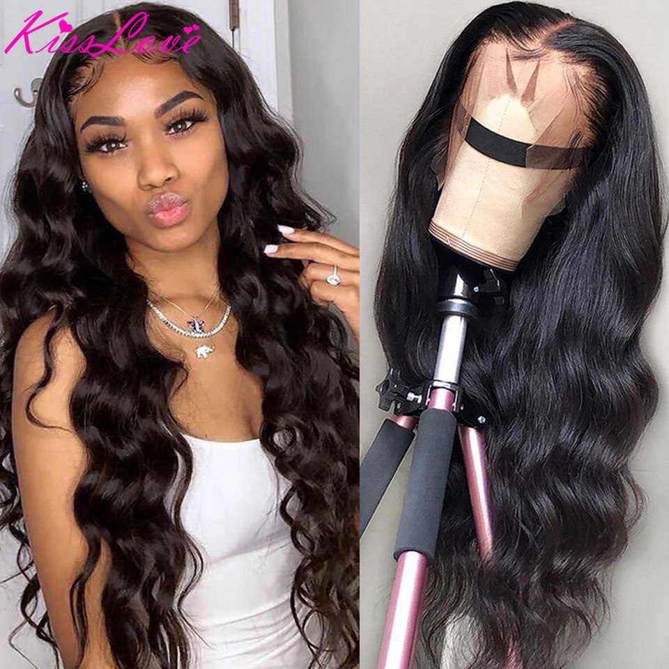 Body Wave Lace Front Human Hair Wigs for Black Women Pre Plucked with Baby Hair Brazilian Remy Hair 13x6 lace front wig KissLove