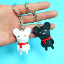 cute cartoon mouse keychain Ancient rat key chain gift for children