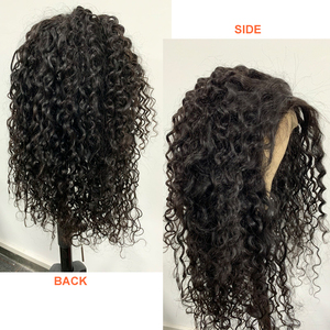 Image 3 - Water Wave 13x4 Lace Frontal Wigs Brazilian 4x4 Lace Closure Wig Addbeauty 180% 250% Pre Plucked Hairline Human Virgin Hair Wigs
