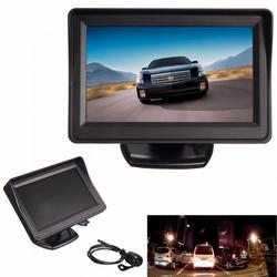 4.3 Cal ekran TFT LCD podgląd widoku z tyłu samochodu Monitor + wodoodporna noktowizyjna kamera cofania