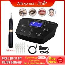 BIOMASER HP100P300 קבוע איפור רוטרי מכונת גבות קעקוע ערכות מקצועי עט גבות אייליינר שפתיים קעקוע סט