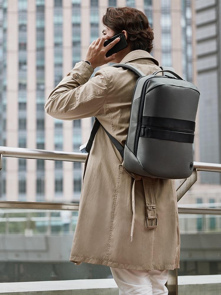 Business-Lecture-Backpack Mochila Ninetygo 90fun Modern Laptop Travel Black Luxury Manhattan