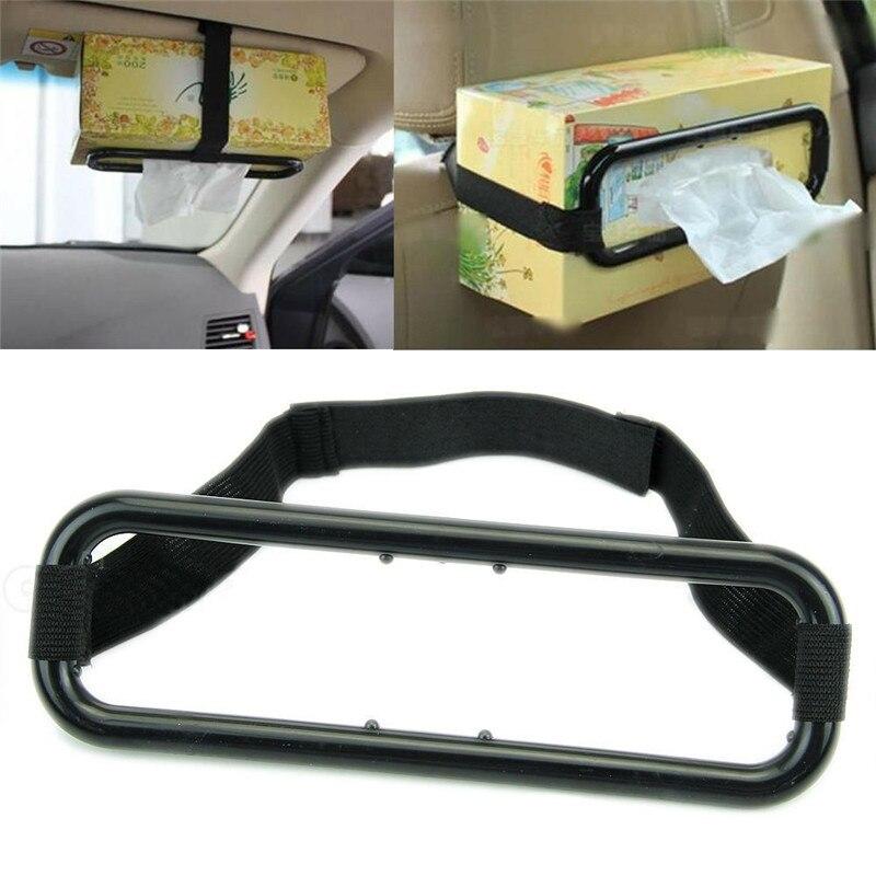 Reliable Auto Accessories Car Sun Visor Tissue Box Holder Paper Napkin Seats Back Bracket Car Tissue Holder Car Accessories